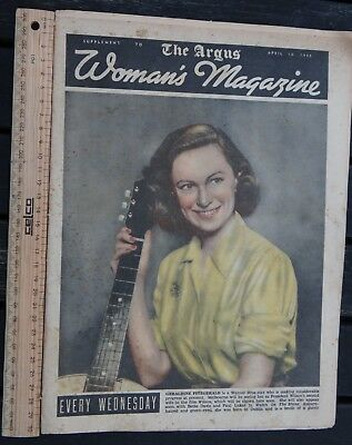 1 x APRIL 10 1946 EDITION THE ARGUS WOMENS MAGAZINE