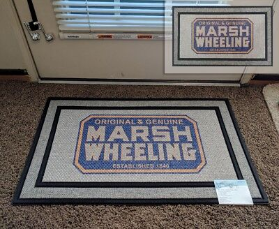 Vintage Marsh Wheeling Cigar Art from Label & Box on Floor Door Area Mat Rug