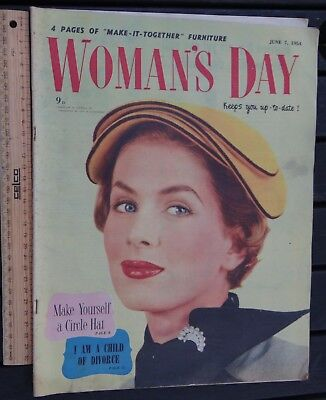 1 x JUNE 7 1954 EDITION WOMANS DAY MAGAZINE