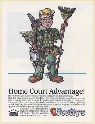 1992 Scotty's Store Home Court Advantage Habitat for Humanity Print Ad