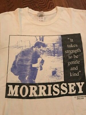 Y2K/ 90's Morissey: It Takes Strength Vintage T-shirt - Medium
