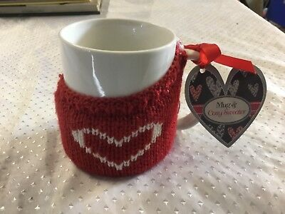 Mug and sweater , xmas cup , novelty hot drink holder , heart , Christmas gift