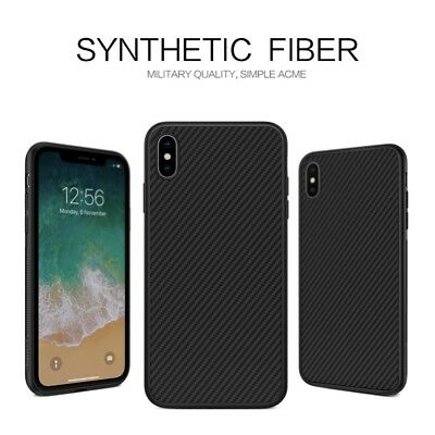 NILLKIN Synthetic Fiber Hard Case Cover Black for iPhone XS Max 6.5 inch