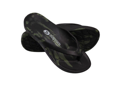 Black Army Slappa's Arch Support Thongs/Orthotic Sandals