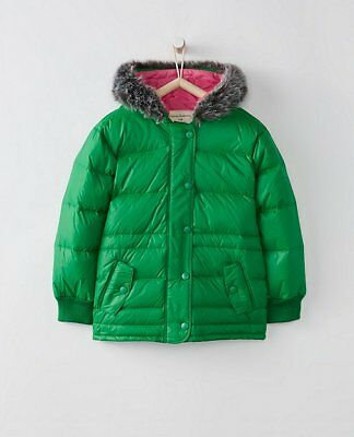$110 NWT Hanna Andersson Girls Down Puffer Jacket Coat 110cm US 5