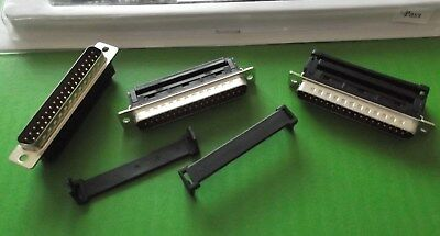 IDC 37 Way Dee Plug Male D Ribbon Cable + Thick Strain Relief x 1pc / set