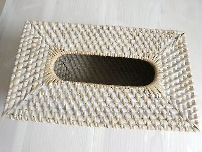 Balinese White Wash Tissue Box Cover