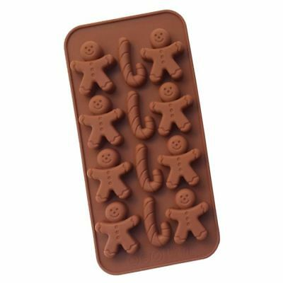 X1 Silicone christmas gingerbread candycane  mould wax melt, soap, sugarcraft