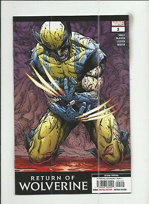Return of Wolverine #1 2nd Printing Variant Cover near mint- (NM-) condition