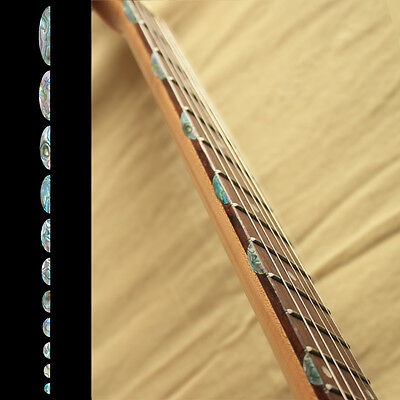 Fret Side Markers Inlay Sticker Decal For Guitar Thumbnail Half Moon Abalone MiX