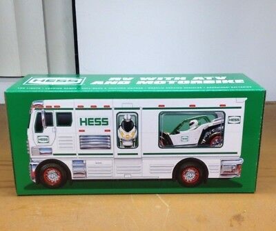 2018 HESS TOY TRUCK RV WITH ATV &  MOTORCYCLE  NIB In stock