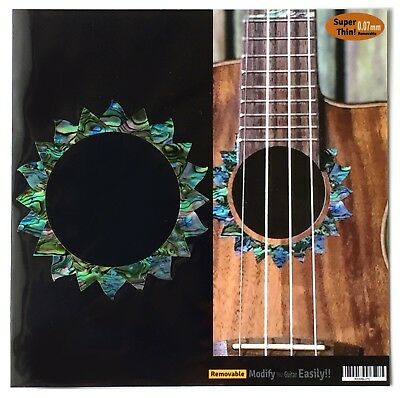 Ukulele Sun Purfling Inlay Sticker for Ukulele (Abalone) Rosette Custom Decal
