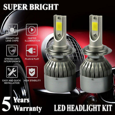 H7 2000W 300000LM LED Headlight Conversion Driving Lamp Bulbs 6000K Canbus C6