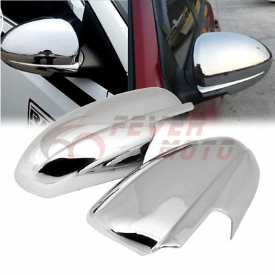 LH+RH Car Chrome Side Door Full Mirror Cover Trim For Chevy Cruze 2010-2015 FM