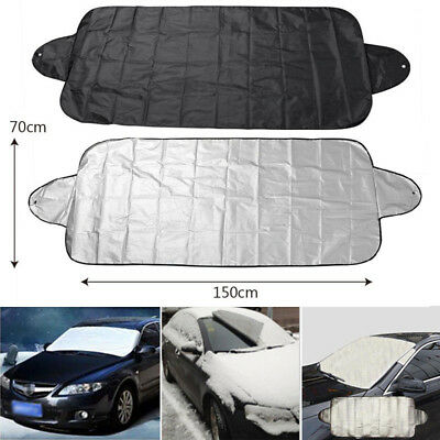 Hot Car Truck Windshield Snow Cover Ice Frost Sun Shade Protector Tarp Flap Auto