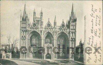 PETERBOROUGH Peterborough Cathedral - West Front Postcard CAMBRIDGESHIRE Frith