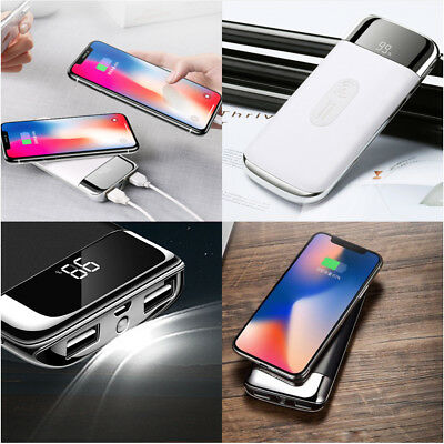 12000mAh Power Bank Qi Wireless Fast Charging USB Portable Battery Charger Hot