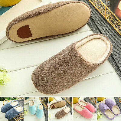Fashion Casual Men Shoes Warm Winter Non-slip Soft Slippers Indoor Home Room