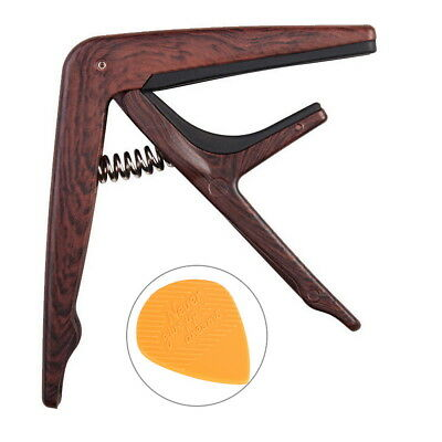 Guitar Capo for Acoustic and Electric Guitars Quick Change Grain Clamp Wood AU