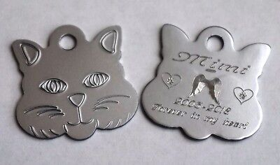 Cat Remembrance Tag Personalised To Remember Your Special  Friend 7 Colours