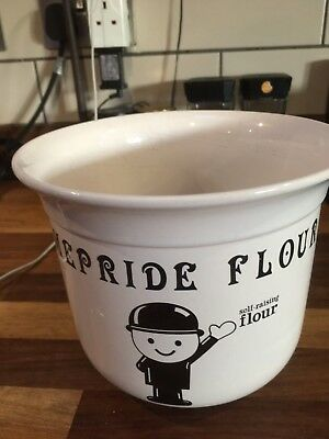 Vintage Ceramic Homepride Fred Flour  Large  Planter / Plant Pot  T G Green