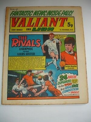 VALIANT And LION comic 9th November 1974.