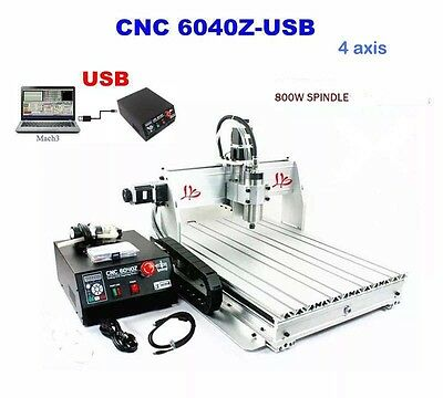 6040Z 4 Axis Cnc Router Engraver Engraving Machine Drilling Milling Cutter great