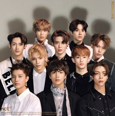 K-POP NCT127 1st Repackage Album [NCT #127 Regulate] CD+48p Photobook+Photocard