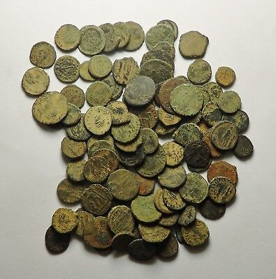 100 Small As Found Low Grade Roman Bronze Coins (158H)