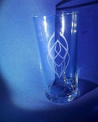STAR TREK EMBLEM BADGE Etched On A Half Pint Glass