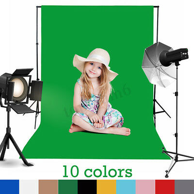 3x5FT Photography Backdrop Background Chromakey 100% Cotton Muslin Photo Props