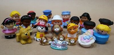Bulk Lot 21 Assorted Fisher Price Figurines Little People Animals Etc
