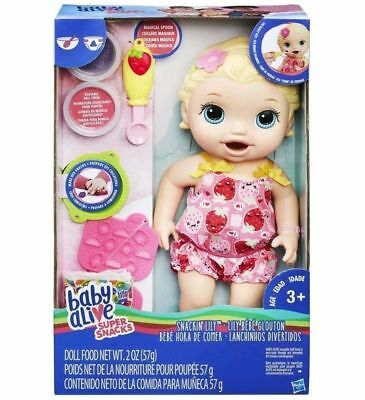 Hasbro - Baby Alive - Snacking Lily Blonde - H0632697