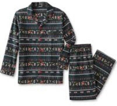 Joe Boxer men's whimsical 2pc flannel pj set Available 1(S), 4(M)