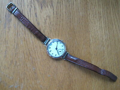 HM STERLING SILVER CASED WWI TRENCH WATCH/LADIES WATCH - BLUE No.12 - 1918 A/F