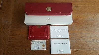 Omega Red Watch Box, Warranty card and instructions for Speedmaster