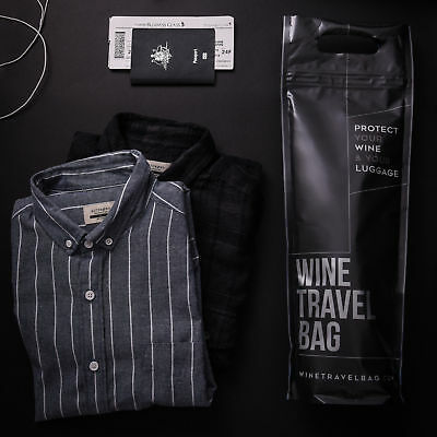 NEW Wine Travel Bag  - Pack of 10 Matte Black