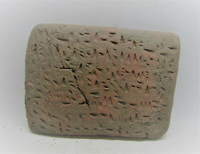 Ancient Near Eastern Terracotta Cuniform Tablet Early Form Of Writing