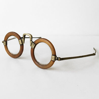 Antique Horn And Brass Chinese Spectacles Antique Eyeglasses 19th C