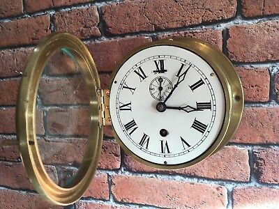 Antique Brass Ship Clock - No Key