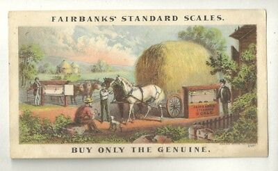 Trade Card FAIRBANKS STANDARD SCALES OSCILLATING PUMPS Spring Balance Scales