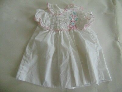 Polly Flinders white smocked dress 24 month