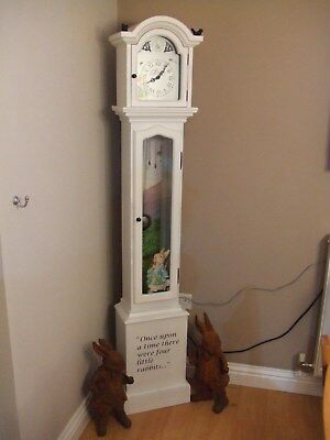 Beatrix Potter Peter Rabbit Limited Edition Grandfather Clock 8 Day Movement.