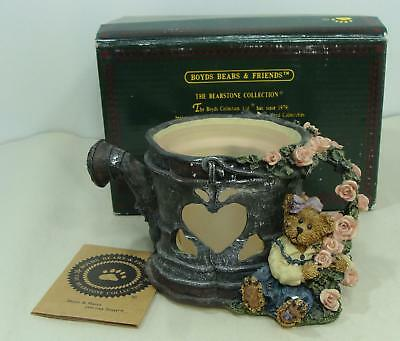 Boyds Bears Lydia Shower Of Roses Candle Holder Bearstone Collection Water Can