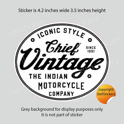 BM-12052 Indian Motorcycle Chief Vintage 1901 Bumper Sticker Window Decal