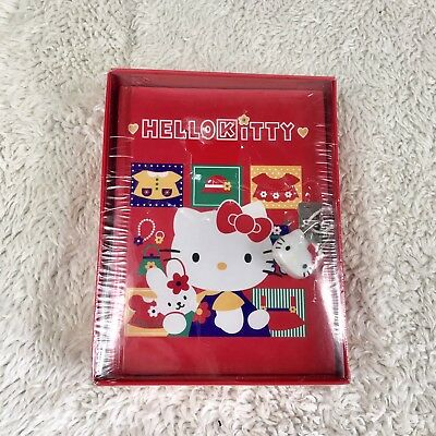 Sanrio Hello Kitty Diary Lock & Key Fashion 288 Multi Colored Pages 1996 Vtg New