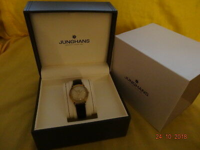 "1950's JUNGHANS 1/5"" SEC GOLD FILLED 20M 32mm Cal 98 15J ORGNL BOX BAND SERVICED"