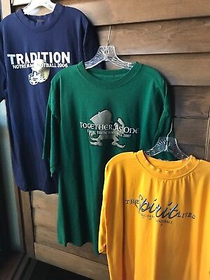 ND University of Notre Dame T-shirt Fighting Irish game day Tee L XL football