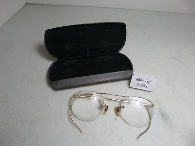 (Lot #1582) Vintage American Optical 12K Gold Filled Metal Frame Eyeglasses