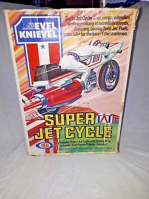 Evel Knievel super jet cycle boxed with instructions